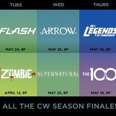 The CW' Spring 2016 finale dates