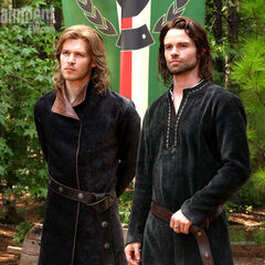 Elijah and Niklaus in Italy in 12th century, together.