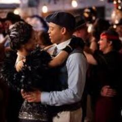 Bonnie dancing with Jamie at the 20's Decade Dance