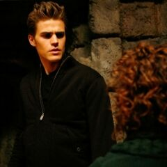 Stefan talking to Grams.