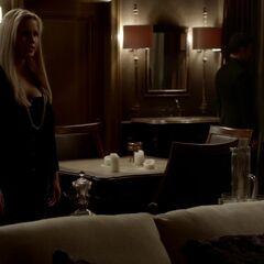 Rebekah talking to Elijah