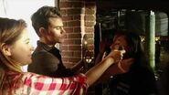 Paul Wesley on set of The Vampire Diaries (8x16)