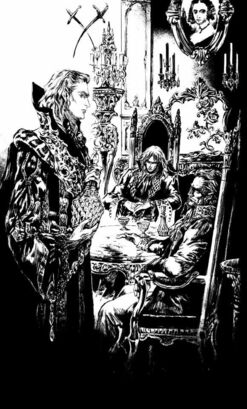 Lord Greylancer and Zeus Macula being hosted by Vlijmen Mayerling drinking Synthetic Blood