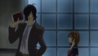 Yuki confronting Yagari about Zero