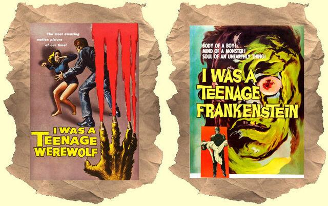 File:I was a teenage werewolf frankenstein dvd cover.jpg
