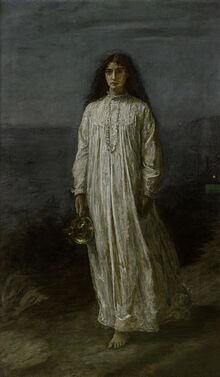 300px-John Everett Millais, The Somnambulist