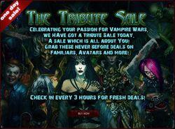 Tribute Sale promo
