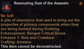 Resonating dust the assassin