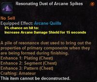 Resonating dust arcane spikes