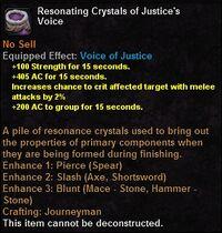 Resonating crystals justicesvoice