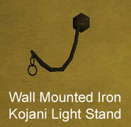 Wall Mounted Iron Kojani Light Stand
