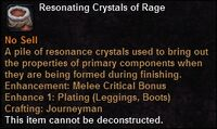 Resonating crystals rage