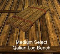 Medium Select Qalian Log Bench