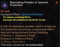 Resonating powder spectral protection