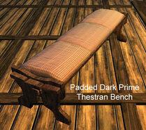 Padded Dark Prime Thestran Bench