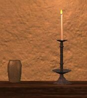 Tall iron thestran candle
