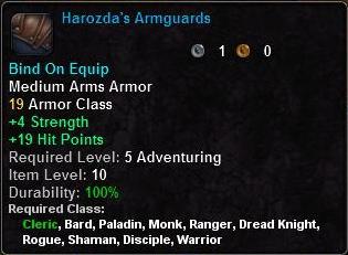 Harozda's Armguards