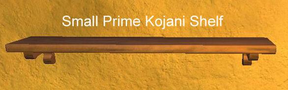 Small Prime Kojani Shelf