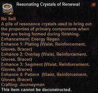 Resonating crystals renewal