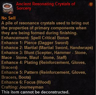 Ancient resonating crystals sorcery