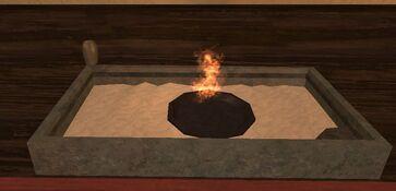 Sandstone kojani small fireplace