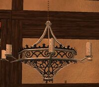 Large mithril thestran chandelier