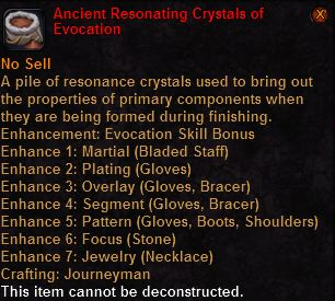 Ancient resonating crystals evocation