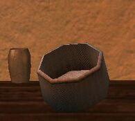 Round silkbloom kojani basket