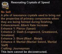 Resonating crystals speed