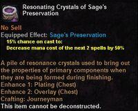 Resonating crystals sagespreservation