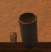 Tall round silkbloom kojani basket