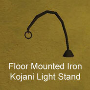 Floor Mounted Iron Kojani Light Stand