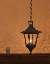 Small iron thestran chandelier