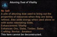 Attuning dust vit