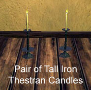 Pair of Tall Iron Thestran Candles