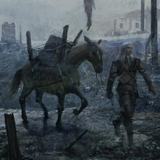 Геральт и Плотва в эпилоге игры «Ведьмак»