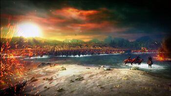 Нильфгаардская армия форсирует Яругу
