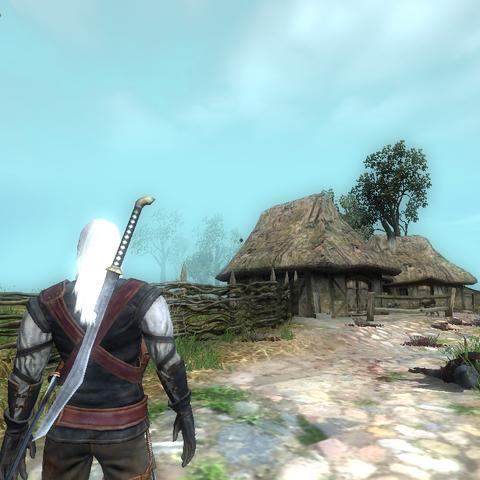 Эльфийский меч из Синих гор в игре Ведьмак