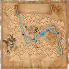 Карта Долины Каэр Морхен