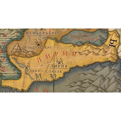 Карта Лирии и Ривии в Ведьмаке 2