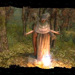 Статуя Мелитэле на болотах