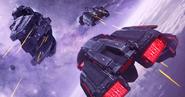 VEGA Conflict Corinthian Cruiser Vs. 2 Heretic Cruisers