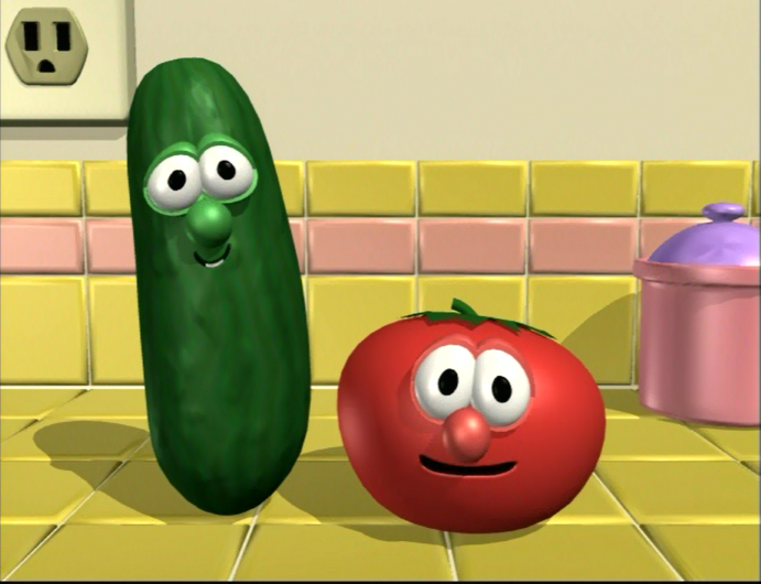 Larry-Boy! & the Fib from Outer Space!/Gallery ... Veggie Tales Larry The Cucumber And Bob The Tomato