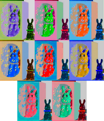 File:8 Colorful Bunnies Box And Eight Chocolate Bunny.png