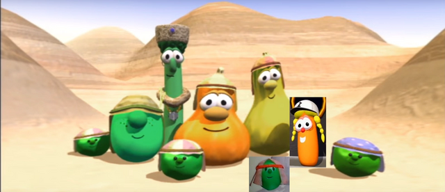 File:3. Jean Claude Pea Dave's Brother Tom Grape King Saul Archibald Asparagus Phillipe Pea Dave's Brother Jimmy Gourd Percy Pea Dave's Brother Jerry Gourd Delivery Girl Laura Carrot Lil' Pea.png
