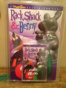 Rack Shack and Benny Read Along Veggie Tales Phil Vischer New biblical god story