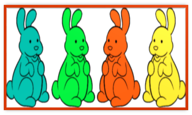 File:4 Chocolate Bunnies Colorful Metal Frame.png