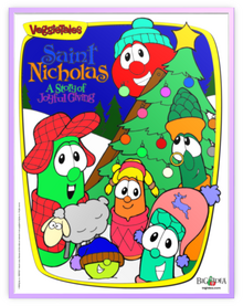 VeggieTales Saint Nicholas A Story of Joyful Giving Metal Frame