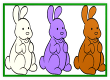 Chocolate Bunnies Colorful Three Metal Frame