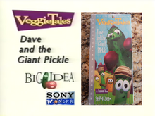VeggieTales Dave and the Giant Pickle Sony Wonder VHS 2004